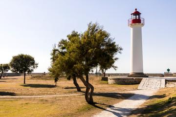 Saint-Martin-de-Re, France. The Phare de Saint Martin, a lighthouse in the Ile de Re island