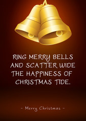 Christmas Greeting Card with Bells and Poem / Rhyme
