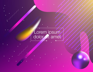 Abstract 3d Gradient Background with Colorful Liquid