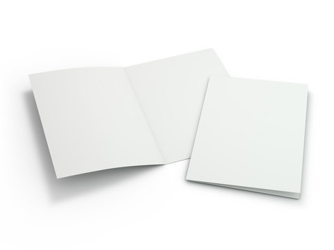 Blank Brochure magazine isolated to replace your design. 3D