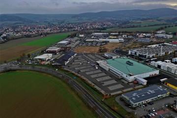 Foto op Plexiglas Stadion Linsengericht Drohnenbilder