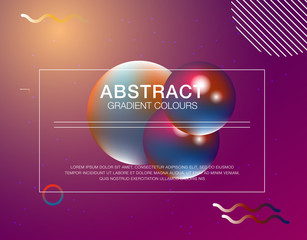 Gradient fluid background design layout for banner or poster
