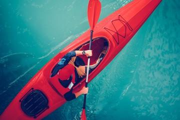 Wall Mural - Turquoise Lake Kayak Tour