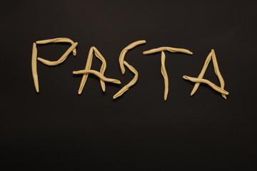 Pasta scrittura che può essere usata come sfondo o immagine per blog di ricette creatività