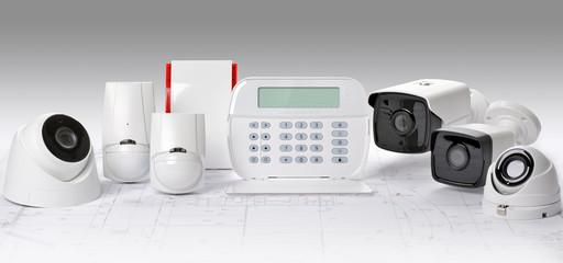 Obraz Alarm domowy,  system ochrony CCTV - fototapety do salonu