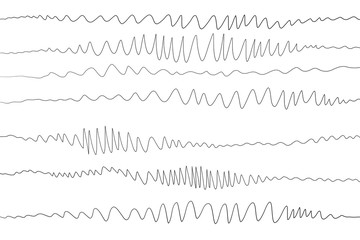 Zigzag Design Waves Hand Illustration