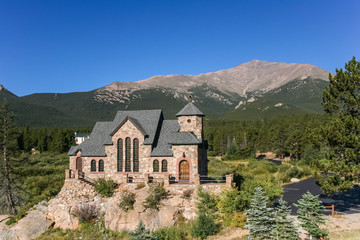 St. Malo's chapel in Allenspark near Rocky Mountains National Park, USA