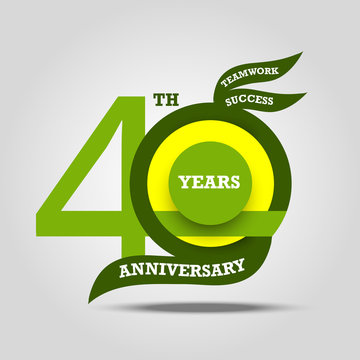 40th anniversary sign and logo celebration
