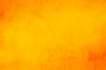 Horizontal yellow and orange grunge texture cement or concrete wall banner, blank  background Fotomurales