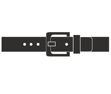 belt buckle icon on white background. flat style. belt icon for your web site design, logo, app, UI. belt symbol. belt sketch sign.