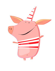 Happy and joyful new year's pig