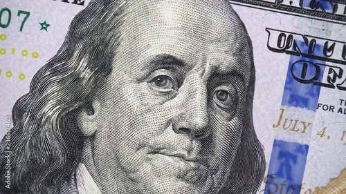 Benjamin Franklin Face On New Us 100 Dollar Bill 2013 Rotating Money Close Up 4k Ultra Hd Clip Stock Footage And Royalty Frees On