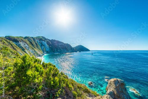 Wall mural Panoramic view of Sansone beach, Elba Island, Tuscany,Italy.