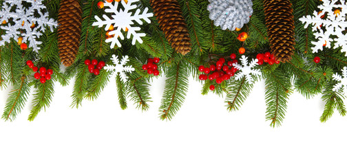 fir tree and decoration