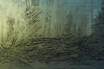 frost patterns on glass