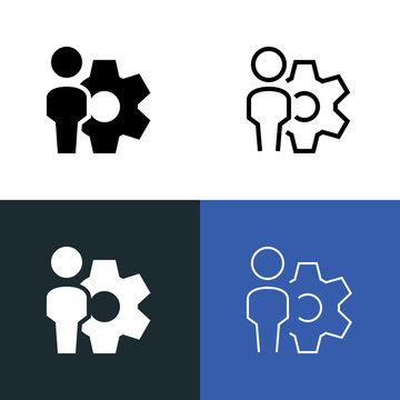 Industrial Workplace Icon Set