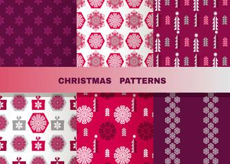 Set of christmas patterns5а