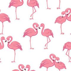 Tropical flamingo pattern