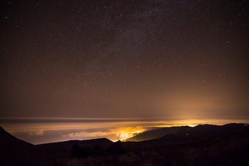 Noche estrellada en el Teide, Tenerife