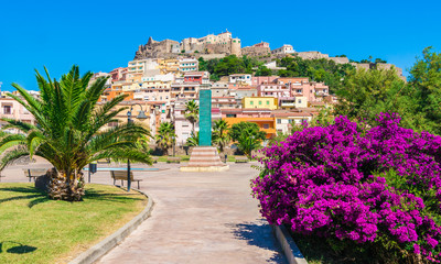 Wall Mural - Medieval town of Castelsardo, Province of Sassari, Sardinia, Italy