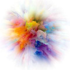 Acceleration of Color Splash Explosion