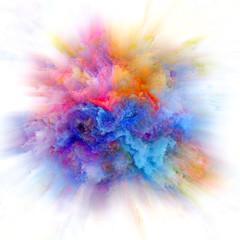 Beautiful Color Splash Explosion