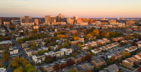 Wilmington Deleware Late Afternoon Light Downtown City Skyline