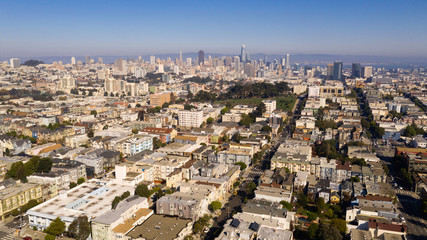 Late afternoon light illuminates San Francisco in this Long Portrait of Urban Sprawl