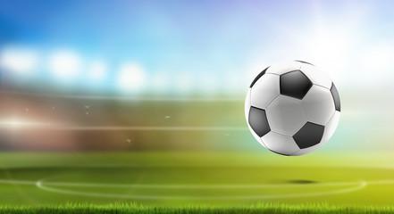 soccer ball soccer stadium 3d-illustration