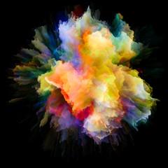 Vibrant Color Splash Explosion