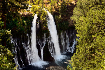 Burney Falls Located in Mcarthur Burney State   Park, Burney, California