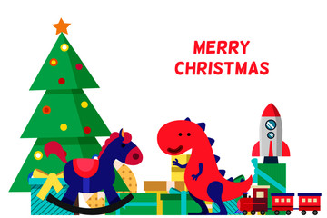 happy merry Christmas toys collection
