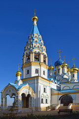 """Construction of the Church of the Mother of God """"Unfading color"""" was completed in 2015. The architect of the temple Nikolai Vasnetsov. Russia, Moscow, November 2018"""