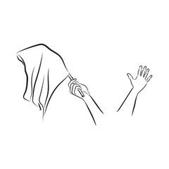 surrender isolated on white background. Vector Illustration.