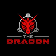 The Dragon Head in Scope Tactical Military Logo Design