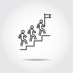 people success icon vector illustration