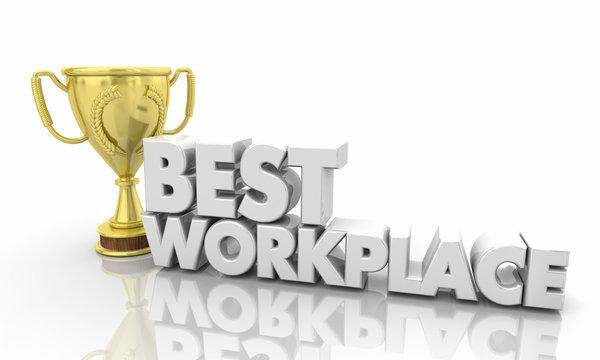 Best Workplace Top Employer Job Trophy 3d Illustration