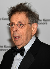 Kennedy Center Honoree Philip Glass arrives for gala at US State Department