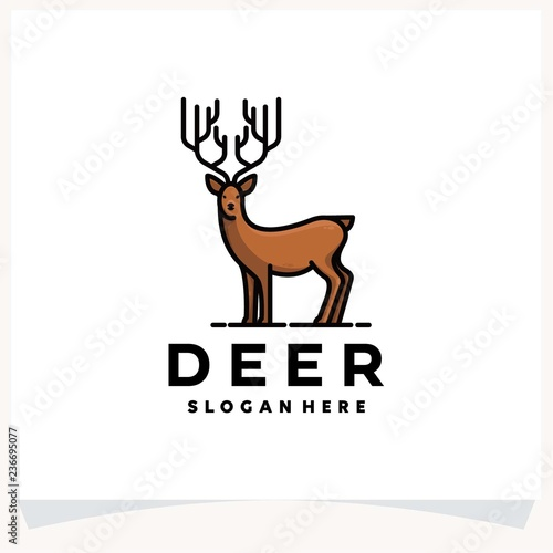deer logo design template stock photo and royalty free images on