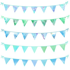 Painted Bunting Flag Background. Celebration Party Background Bunting Garland