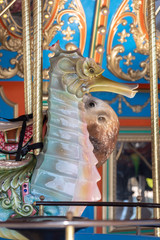 carousel with sea horses