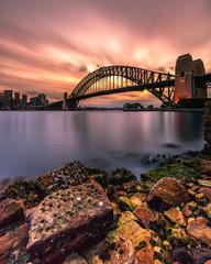 Canvas Prints Sydney Sydney Harbour Sunset
