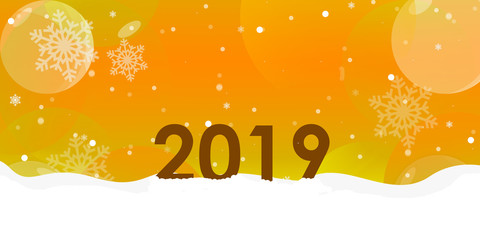 Christmas & Happy New Year Golden Background and Wallpaper