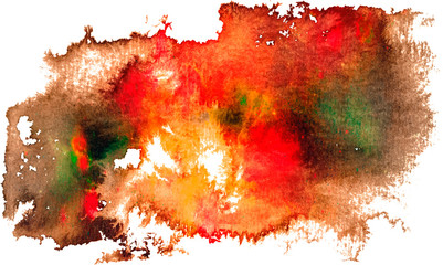Colorful watercolor hand drawn brush stroke. Grunge distress textured design element. Used as a banner, template, logo