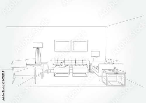 Superb Linear Sketch Of An Interior Living Room Plan Sketch Line Download Free Architecture Designs Xoliawazosbritishbridgeorg