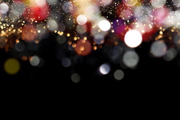 красивый блестящий праздничный фон на черном фоне