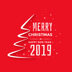 merry christmas and new year red greeting background