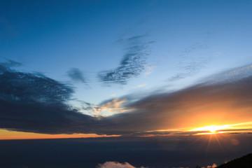富士山5合目から見た夕景