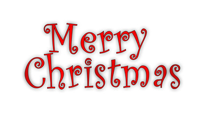 Merry Christmas Written in beautiful design
