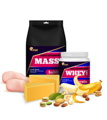Fitness Sport Nutrition Realistic